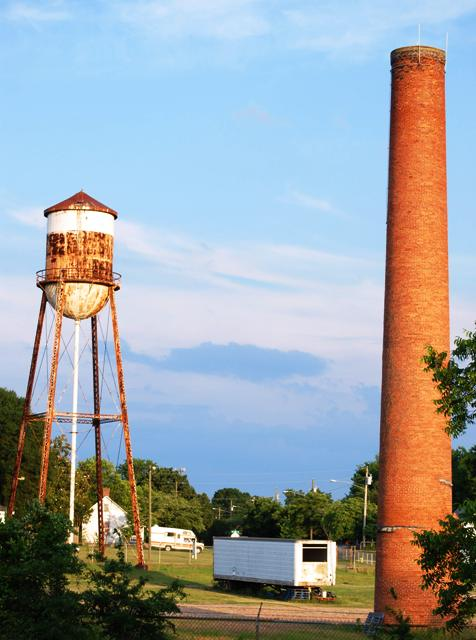 Water Tower and Smoke Stack
